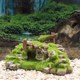 Acquario Fish Tank Bridge Ornament Resin Moss Bridge Fish Gioca Cave Decorations