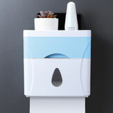 Wall Mounted Press Open Waterproof Double-deck Paper Rolled Toilet Tissue Box