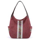 Kvinder stor taske lærred håndtaske skulder taske