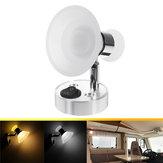 12Vウォールランプ読書ランプスポットライト調整可能な角度、アクリルカバーホワイトウォームホワイト