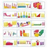 Criativo De Madeira Domino Rainbow Blocks Jigsaw Montessori Brinquedos Educativos para Crianças