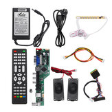 T.SK106A.03 Universal LCD LED TV Controller Driver Board +7 Key button+1ch 6bit 40Pins LVDS Cable+Speaker+EU Power Adapter