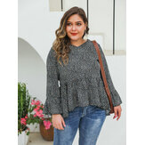 Women Floral Print Casual Blouse