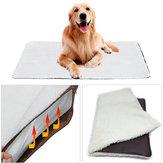 كبير النفس التدفئة الكلب السرير الصوف حصيرة Soft الدافئة القط حيوان أليف البساط الحرارية قابل للغسل الوسادة