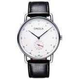 ONOLA ON3806 Creative Point Simple Dial Men Fashion Nylon Leather Strap Quartz Watch