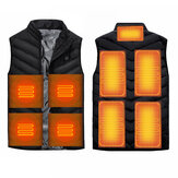 9 Heating Pads USB Electric Heated Vest Jacket Warm Body Warmer Pad Winter Thermal