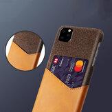 Bakeey Luxe PU-lederen doek met kaartsleuf Schokbestendig Anti-kras beschermhoes voor iPhone 11 Pro 5,8 inch