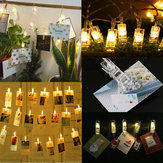 2.2M USB / batterijvoeding Foto Clip 20LED Fairy String Light Kerstslinger Bruiloft Home Decor