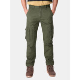 Mens Thick Loose Winter Polar Fleece Cargo Pants