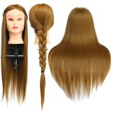 24'' Hairdressing Human Hair Practice Makeup Training Manneq