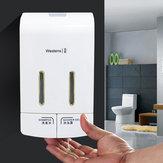 Ścienny podwójny ręczny dozownik mydła w płynie Ręcznie naciskając pojemnik na balsam