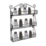 3 Tier Kitchen Bottle Spice Rack Jar Holder Storage Shelf Organizer Wall Mount
