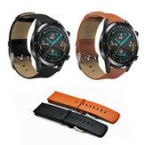 ساعة Bakeey 22MM من الجلد الطبيعي حزام لـ Huawei ساعة GT 2 / Amazfit 2 / 2s