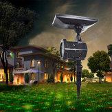 Su geçirmez Solar Güç Lazer Işıklar Projektör Outdoor LED Bahçe Parti Noel Solar Bahçe Işık