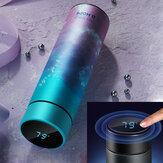 Bouteille thermique d'eau d'acier inoxydable de tasse intelligente de CS04-450 450ML avec la tasse à vide d'affichage de température d'écran tactile LCD