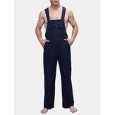 Erkek Düz Renk Kayışı Pantolon Tulumları Önlük Pantolon