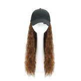 Woman Girl Cap Wig Hat Light Long Wavy Halloween Party Curly