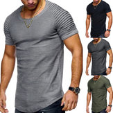 Men's Oversized Casual Tee Tops Short Sleeve Muscle Sports Gym T Shirts Blouses