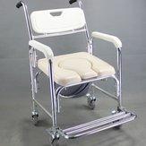 3 em 1 liga de alumínio chuveiro móvel Banheiro higiênico cadeira de rodas cadeira de rodas à prova de ferrugem impermeável