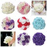 Sztuczna pianka Crystal Rose Flower Druhna Bukiet ślubny Dekoracje ślubne
