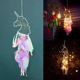 Unicornio wisiorek Feather Dream Catcher Indian Crafts wiszące na ścianie Duże wiatrowe kuranty Dream Catcher Dekoracje
