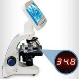 Microscopio biológico profesional 2000X, observación de esperma, ganado, acuicultura, microscopio todo en uno especial