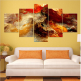 New 5Pcs Star Clusters Abstract Art Paintings Print Picture Oil Canvas Home Decor