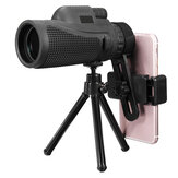16X52 / 40X60 HD Zoom Telescopio monoculare Teleobiettivo fotografica lente Supporto per telefono / treppiede Regalo per escursioni all'aperto