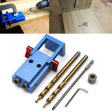 Mini Pocket Hole Jig Kit Woodwork Guide with Drill Bits Woodworking Tool