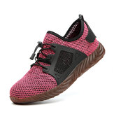 Women  Women Hiking Steel Toe Work Safety Mesh Shoes