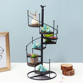Spiral Plant Stand Iron Flower Pot Holder Shelf Rack Display Garden Decor
