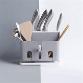 Többfunkciós konyhai asztali polcos állvány Műanyag vágó pálcika Drain Rack pálcika Asztali állvány szervező