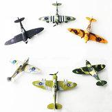 6 STKS 1:48 Britse Spray Interceptor Fighter Schilderen Versie DIY Gemonteerd Vliegtuigen Modelbouw Educatief Speelgoed