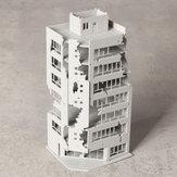 N Skala 1/144 Bangunan Rusak Putih Setelah Perang GUNDAM Scene Model Building