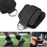 Fitness Ankle D Ring Straps Gym Weight Lifting Exercise Cuff Pulley Attachment Leg Strength Training Foot Support Buckle