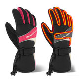Winter Thermal Electric Warm Heated Heating Gloves Mitten Ski Waterproof Sport