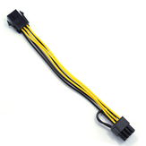 22cm Graphics Card 6Pin to 6 + 2Pin Power Adapter Cable Power Supply Splitter Cable for Desktop