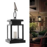 Solar Powered LED Candle Table Lantern Hanging Light Outdoor Garden Decor