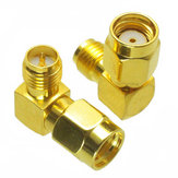 10pcs RP-SMA Male to RP-SMA Female Adapter Right Angle RF Connector For FPV Racing RC Drone