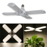 AC110-265V 50W 2835 Faltbare 4-Blatt-Glühbirne E27 240 LED Mit Lampenhalter-Clip für Gemüsebau
