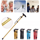 Aluminum Metal Folding Walking Stick Outdoor Adjustable Non-slip Hiking Climbing Trekking Pole