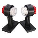 Пара LED габаритных фонарей с двумя боковыми габаритными огнями Лампа красно-белый для 12 В 24 В грузовик с прицепом-фургоном