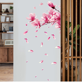 Miico FX64039 Peach Flower Home Decorative Sticker Wall Sticker DIY Sticker