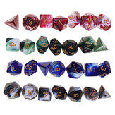 28Pcs Multisided Dice Polyhedral Dices Set Board RPG Dice Set 4 Colors With 4 Bags
