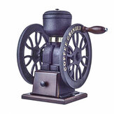 Classic Two-wheel Commercial Retro Grinder Hand Grinding Cast Iron Coffee Bean Grinder Coffee Machine Decorations