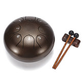 6 Inch 8 Notas G Tune Steel Tongue Drum Handpan Instrument con Drum Mallets y Bolsa