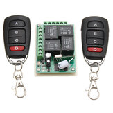 433MHz 12V 4CH Channel Relay RF Wireless Remote Control Switch 2 Transmitter+Receiver