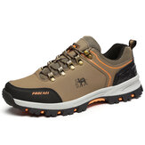 Men Non-Slip Waterproof Breathable Wearable Lace Up Outdoor Hiking Climbing Running Sneakers