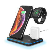 Bakeey 3in1 Breathing Light 15W Qi Fast Charging Wireless Charger Dock for IPhone 11 Watch Xiaomi 9T Mi9 Pro HUAWEI P30Pro for Samsung S10+