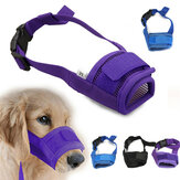 Fashion Adjustable Nylon Dog Muzzle Pet Puppy Mesh Mouth Mask Anti Biting Barking S-XL
